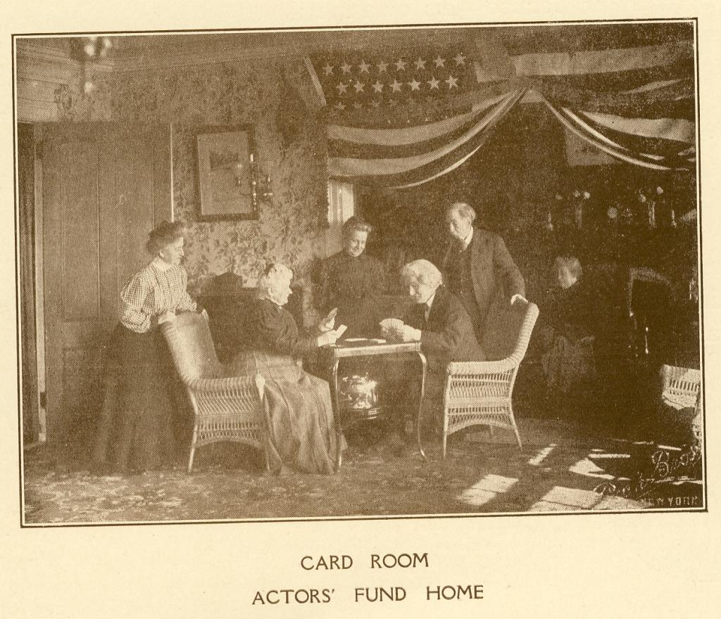 A card room at The Actors Fund Home, Staten Island, c. 1917. | Photo by The Actors Fund