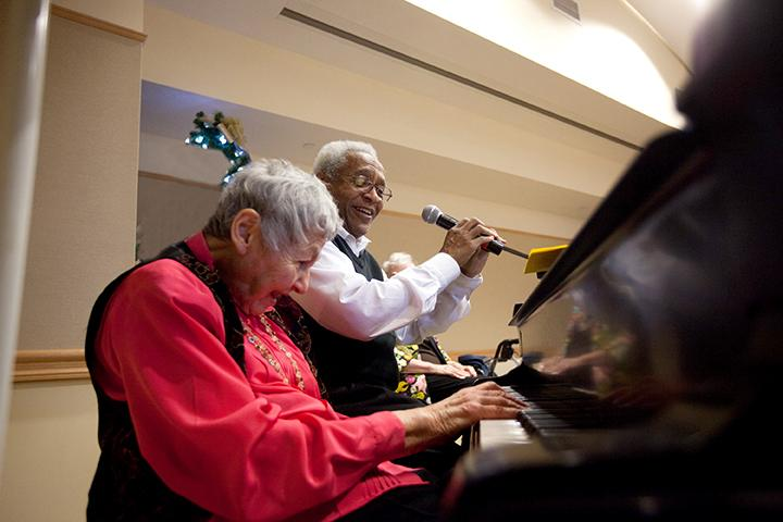 Activities, such as acting, music, singing and performance opportunities, are led by the needs and interests of our residents. | Photo by Claudio Papapietro