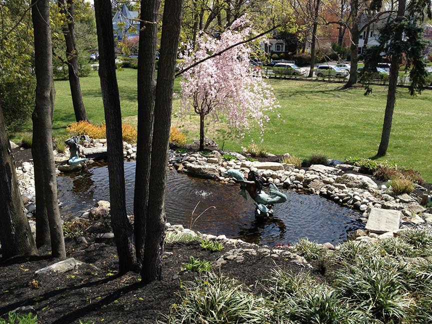 A pond and a fountain await your discovery on a spring stroll at The Home. | Photo by Lou Manna