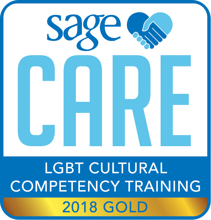 Certification of Sage Care LGBT Cultural Competency Training, 2018 Gold